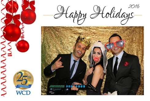 Corporate Holiday Celebration with Photo Booth Activity
