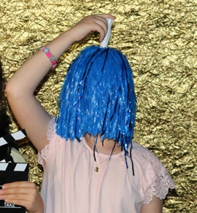 """Blue Sia"" at Annnd...Action! Photo Booth"